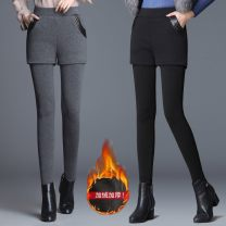 Leggings Autumn 2020 Black (thickened), gray (thickened), black thin [spring and autumn] S,M,L,XL,2XL,3XL trousers 18-24 years old
