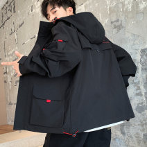 Jacket UNS Youth fashion M L XL 2XL 3XL 4XL routine easy Other leisure autumn Polyester 100% Long sleeves Wear out Hood tide youth routine Zipper placket Rubber band hem No iron treatment Closing sleeve other polyester fiber Autumn 2020 More than two bags) Cover patch bag polyester fiber