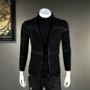 Jacket Other / other Fashion City Black, black 2 M,L,XL,2XL,3XL,4XL routine Self cultivation Other leisure autumn Long sleeves Wear out Baseball collar Exquisite Korean style youth routine Zipper placket 2018 Rib hem Mercerization Closing sleeve other Centipede yarn Rib bottom pendulum other