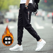 Casual pants Wai San Youth fashion M L XL 2XL 3XL 4XL 5XL routine trousers Other leisure Self cultivation Micro bomb WS-FK-FK-K03-3 spring youth tide 2019 middle-waisted Little feet Cotton 95% polyurethane elastic fiber (spandex) 5% Sports pants Pocket decoration No iron treatment Geometric pattern