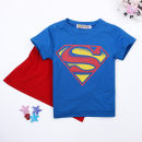 Home top Cotton 100% 2T (recommended height 70 cm), 3T (recommended height 80 cm), 4T (recommended height 90 cm), 5T (recommended height 100 cm), 6T (recommended height 105 cm), 7T (recommended height 110 cm) Other / other Blue cc00297 CC00297 X03A-01 male Class A cotton Home summer