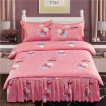 Bedding Set / four piece set / multi piece set cotton Quilting Plants and flowers 128x68 Other / other cotton 4 pieces 40 1.2 bed quilt cover 150x200), 1.5 bed quilt cover 180x220), 1.8 bed quilt cover 200x230), 2.0 bed quilt cover 200x230) Bed skirt First Grade European style 100% cotton Sanding