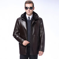 leather clothing Oana  Youth fashion 165,170,175,180,185,190 have more cash than can be accounted for Imitation leather clothes zipper leisure time middle age Zipper decoration
