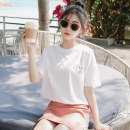 T-shirt S M L XL Summer 2020 Short sleeve Crew neck easy Regular routine commute cotton 96% and above 18-24 years old Korean version youth letter Chenku CKB8T867 printing Cotton 100% Pure e-commerce (online only)