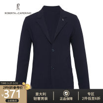 T-shirt / sweater Roberta di Camerino / nobeda Fashion City Dark blue 46 48 50 52 54 56 routine Cardigan Lapel Long sleeves spring Straight cylinder 2020 Viscose (viscose) 83% polyester 17% Home tide youth Spring 2020 Regular wool (10 stitches, 12 stitches)
