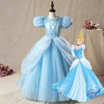 Dress F16-078 sky blue h16-093 Pink female Good play Partner 100cm 110cm 120cm 130cm 140cm 150cm Other 100% No season princess Short sleeve Cartoon animation nylon A-line skirt GOOD043 Class B Summer of 2019 4 years old, 5 years old, 6 years old, 7 years old, 8 years old, 9 years old, 10 years old