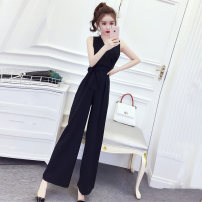 Casual pants S M L XL Summer 2020 Ninth pants Straight pants High waist commute Thin money 25-29 years old 96% and above Hong Kong fu'er cotton Korean version pocket cotton Cotton 55% new polyester 45% Exclusive payment of tmall