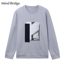 T-shirt Youth fashion Blue white routine 165/90 170/95 175/100 180/105 185/110 Mind Bridge Long sleeves Crew neck standard daily spring Polyester fiber 58% cotton 37% polyurethane elastic fiber (spandex) 5% youth routine tide Spring 2020 Geometric pattern polyester fiber International brands