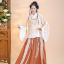 Hanfu 96% and above Autumn 2020 1 light green big skirt suit - 1 light pink big skirt suit will be delivered on April 15 - 1 gray blue big skirt suit will be delivered on April 15 - in stock XS S M L XL polyester fiber