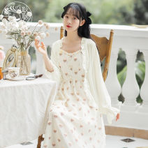 short coat Summer 2021 S,M,L,XL 6478 white sunscreen, 6478 apricot sunscreen, 6485 apricot suspender skirt Long sleeves Thin money singleton  easy Sweet other Single breasted Solid color 18-24 years old 71% (inclusive) - 80% (inclusive) Gauze other cotton