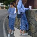 skirt Summer 2021 Average size blue Mid length dress commute Natural waist Broken flowers MS921040802 91% (inclusive) - 95% (inclusive) Chiffon Cellulose acetate printing Korean version