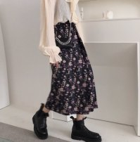 skirt Spring 2021 S M L Picture color longuette commute High waist A-line skirt Broken flowers Type A 25-29 years old More than 95% Chiffon Good girl other printing Retro Other 100% Pure e-commerce (online only)