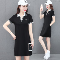 T-shirt White sapphire blue, black M L XL 2XL 3XL Summer 2021 Short sleeve Polo collar easy Medium length routine commute cotton 86% (inclusive) -95% (inclusive) 25-29 years old Korean version youth Splicing Xilan square MYEr6359-65 3D splicing Cotton 95% polyurethane elastic fiber (spandex) 5%