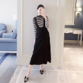 suit Other / other black M,L,XL,XXL Korean version Long sleeve + skirt spring and autumn routine other Pure cotton (95% and above)
