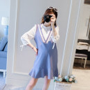 Dress Other / other Picture color M,XXL,L,XL Korean version Long sleeves Medium length autumn