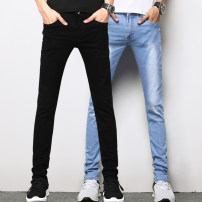 Jeans Youth fashion Tai Wei Twenty-eight Black + Black Thin money Micro bomb Thin denim HD77 Cotton 98% polyurethane elastic fiber (spandex) 2% Summer of 2018 Pure e-commerce (online only)