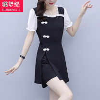 Fashion suit Summer 2021 L [recommended 100-118 kg] XL [recommended 120-133 kg] 2XL [recommended 135-148 kg] 3XL [recommended 150-163 kg] 4XL [recommended 165-178 kg] 5XL [recommended 180-200 kg] 25-35 years old Lumengti C60330706 Other 100% Pure e-commerce (online only)