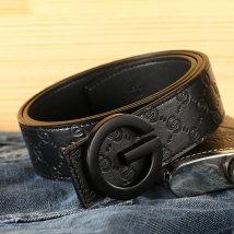 Belt / belt / chain Первый слой кожи ремень мужчина Единый круг Молодежный средний возраст Гладкая пряжка Maipen чеканка 3.8 см письмо сплав MPP0074JH