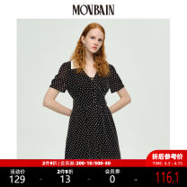 Dress Summer 2020 Black dress black short sleeve top S M L Mid length dress singleton  Short sleeve street other middle-waisted Dot Socket other routine Others 25-29 years old Type X MOVBAIN MB235125C More than 95% polyester fiber Polyester 100% Pure e-commerce (online only) Sports & Leisure