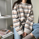 Wool knitwear Autumn of 2018 S M L XL Long sleeves singleton  Socket other More than 95% have cash less than that is registered in the accounts thick commute easy Low crew neck routine stripe Korean version Love of Shu Mei Other 100%
