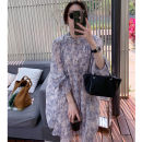 Dress Summer 2021 Short skirt singleton  commute High waist Broken flowers Condom A-line skirt routine Others 25-29 years old Quiet and elegant 9473 More than 95% other Other 100% Pure e-commerce (online sales only) XS S M L XL Begonia Neroli