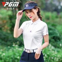 Golf apparel Yf271 white top, kuz069 Navy Pants, kuz069 white pants, kuz069 red pants XS,S,M,L,XL female PGM t-shirt  YF271