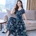 Dress Summer 2021 Red, blue, yellow M,L,XL,2XL,3XL Mid length dress singleton  Short sleeve commute Crew neck Decor Socket other Others 25-29 years old Type A Other / other Korean version 31% (inclusive) - 50% (inclusive) cotton