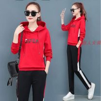 Fashion suit Autumn of 2019 M,L,XL,XXL,3XL Red, black, coral red 18-25 years old Tagkita / she and others WBX-270 cotton
