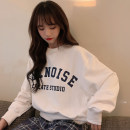 Sweater / sweater Autumn 2020 Grey white green M L XL Long sleeves have cash less than that is registered in the accounts Socket singleton  Thin money Crew neck easy commute routine letter 18-24 years old 71% (inclusive) - 80% (inclusive) Mengyingchun Korean version polyester fiber printing