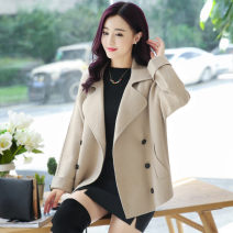 Women's large Winter 2020, autumn 2020, spring 2021 Camel Big XL, big XXL, big L, big M woolen coat singleton  commute easy thick Cardigan Long sleeves Solid color Korean version Polo collar have cash less than that is registered in the accounts polyester Collage routine ZYYS8516 25-29 years old