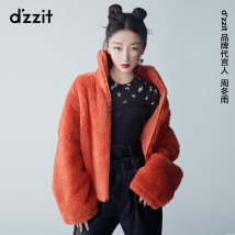leather and fur Winter 2020 d'zzit Orange Black XS S M routine Long sleeves commute stand collar routine zipper other lady 3C4F4071M 25-29 years old 96% and above Same model in shopping mall (sold online and offline) Polyester 100%