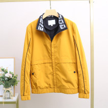 Jacket Xking / Exxon other yellow M,L,XL,4XL routine standard Other leisure spring Polyester 100% Long sleeves Wear out stand collar teenagers routine Zipper placket 2021 other polyester fiber More than 95%