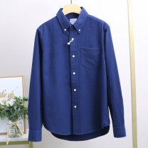 shirt other Xking / Exxon S,M,L,XL Navy Blue routine square neck Long sleeves Self cultivation Other leisure winter youth Cotton 100% Basic public 2020 Solid color cotton More than 95%