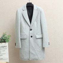 woolen coat Light grey S,M,L,XL,2XL,3XL Xking / Exxon Fashion City Medium length Other leisure Self cultivation youth tailored collar Single breasted Basic public Solid color Straight hem autumn Digging bags with lids wool 50% (inclusive) - 69% (inclusive)