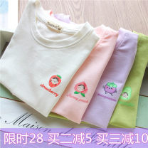T-shirt Other / other female summer Short sleeve Crew neck leisure time No model nothing cotton Fruits and Vegetables Chinese Mainland