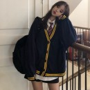 Wool knitwear Autumn of 2018 Average size Long sleeves Two piece set Cardigan acrylic fibres More than 95% Regular routine commute easy V-neck Bat sleeve Solid color Korean version 18-24 years old Uniday Pure e-commerce (online only)