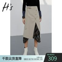 skirt Autumn of 2019 S/155 M/160 L/165 XL/170 khaki Mid length dress commute Natural waist Irregular other Type A 25-29 years old 51% (inclusive) - 70% (inclusive) polyester fiber Simplicity Same model in shopping mall (sold online and offline)