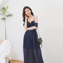 Casual pants navy blue Xs, s, m, l, no reason for return and exchange in seven days Spring 2021 trousers Jumpsuit High waist street Thin money 25-29 years old 51% (inclusive) - 70% (inclusive) Xueyuan style polyester fiber belt polyester fiber Europe and America Asymmetry