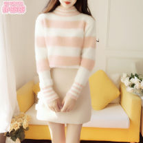 Fashion suit Autumn 2020 S M L Pink Striped Sweater Blue Striped Sweater apricot Skirt Pink Striped Sweater + apricot Skirt Blue Striped Sweater + apricot skirt 25-35 years old Jonana 71% (inclusive) - 80% (inclusive) cotton Other 100% Pure e-commerce (online only)