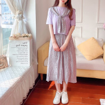 Fashion suit Summer 2021 S M L Purple suit white suit 25-35 years old Jonana 71% (inclusive) - 80% (inclusive) polyester fiber Other 100% Pure e-commerce (online only)