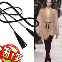 Belt / belt / chain cloth Grey apricot coffee camel orange light apricot white yellow red green blue dark blue black pink army green female belt Versatile Single loop youth Automatic buckle bow soft surface tassels Crnagoose / Xiangna goose Spring and summer 2011