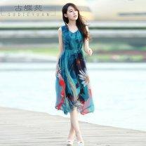 Dress Spring of 2018 Decor S M L XL XXL XXXL Miniskirt 18-24 years old Crnagoose / Xiangna goose More than 95% other Triacetate fiber (triacetate fiber) 100%