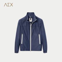 Jacket other 165/84A 170/88A 175/92A 180/96A 185/100A routine standard Other leisure spring Polyester 100% Long sleeves Wear out stand collar Business Casual youth routine Zipper placket Rubber band hem Closing sleeve Solid color Spring of 2018 polyester fiber More than 95%