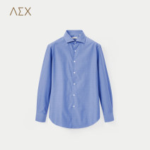 shirt Business gentleman AEX 175/96A 180/100A 170/88A 175/92A 180/104A Royal blue pattern 35 routine square neck Long sleeves standard go to work spring KNCAJ18019A youth Cotton 100% Basic public 2018 Spring of 2018 cotton More than 95%