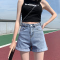 Jeans Summer 2021 shorts High waist Wide legged trousers Thin money 18-24 years old Washable flanging zipper button patch Multi Pocket metal decoration Thin denim light colour HT05L226 Korean Dragonfly 96% and above Cotton 98% other 2% Pure e-commerce (online sales only) XS S M L XL 2XL