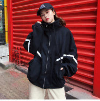 Sweater / sweater Winter 2017 Black red M L XL XXL Long sleeves Medium length Socket Plush Half high collar easy commute Bat sleeve letter 18-24 years old 96% and above Doyen Korean version polyester fiber Cotton liner Polyester 100% Pure e-commerce (online only) zipper