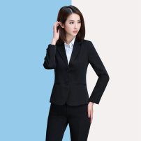 suit Autumn 2020 S. M, l, XL, 2XL, 3XL, 4XL Long sleeves routine Self cultivation tailored collar double-breasted routine Solid color I17328 96% and above polyester fiber Other / other