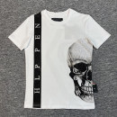 T-shirt Youth fashion White, black thin 170(M),175(L),180(XL),185(XXL),190(3XL) Piplan Short sleeve Crew neck standard Other leisure summer youth routine Youthful vigor 2021 skull Hot drilling cotton Creative interest No iron treatment More than 95%