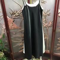 Dress Spring 2021 Acetic acid suspender skirt is black, acetic acid suspender skirt is purple, acetic acid suspender skirt is ice, acetic acid suspender skirt is white M,L,XL,2XL