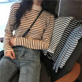 Home top BBZ Apricot, white, yellow, black, blue, coffee Average size (80-130 kg) Long sleeves High collar routine leisure time winter stripe other Socket The breast feeding mouth is vertically opened on both sides
